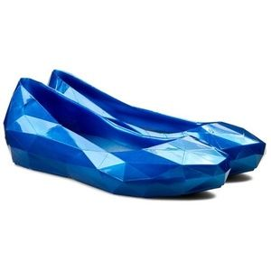 United Nude Lo Res flats in Cobalt